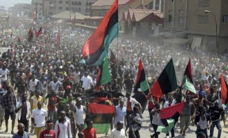 Nigerian students take Biafra battle to streets of India