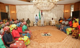 Journalists barred as Buhari meets Chibok girls