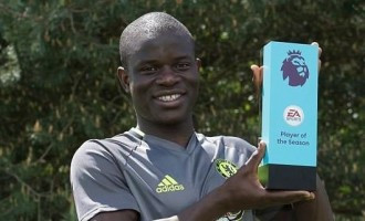 Kanté wins third player of the season award