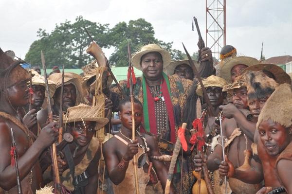 Runsewe with Berom Warriors