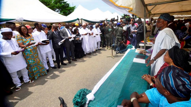Aregbesola inaugurates cabinet after over two years in office