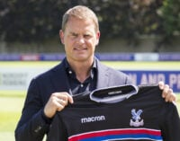 Frank de Boer appointed new coach of Crystal Palace