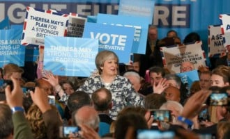 Theresa May fails to win majority, exit polls predict