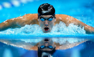 Michael Phelps loses race to shark, says 'I don't like taking silver'
