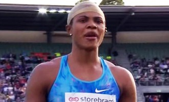 TRENDING VIDEO: Okagbare's 'unstable wig' steals the show during long jump event