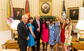 Two Chibok girls meet Trump at White House