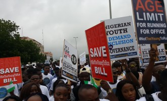Protesters storm n'assembly over 'not too young to run' bill