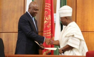 Saraki swears in Adeleke as senator