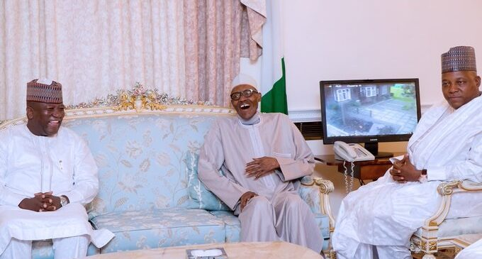 PHOTOS: Laughter, smiles as Buhari welcomes seven governors
