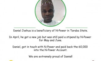 EXTRA: Osinbajo praises N-Power beneficiary for returning unearned allowance