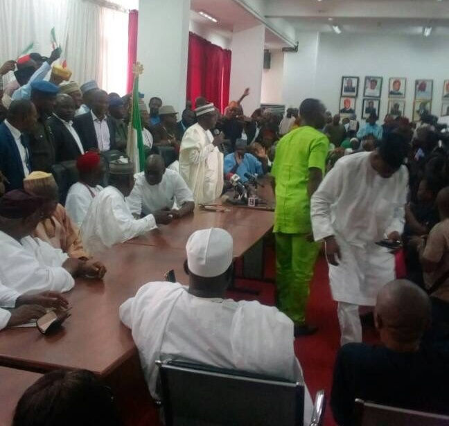 Makarfi addressing party members