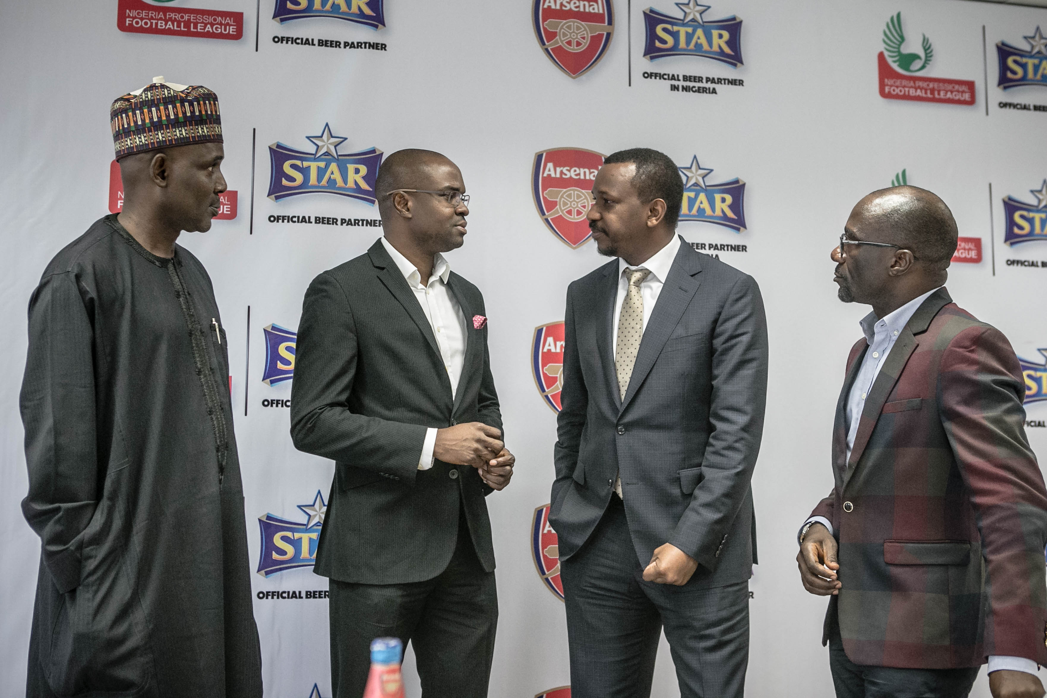 Salihu ababukar, COO of the LMC, Tokunbo Adodo, Portfolio Manager National Premium Lager Brands,Mallam Shehu Dikko, Chairman LMC, Vivian Ikem, Head, Government Relations, Nigerian Breweries