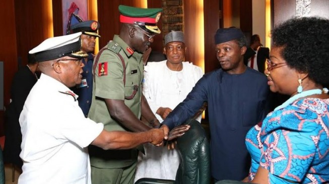 Osinbajo orders service chiefs to relocate to Maiduguri