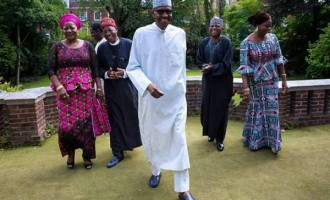 'Lion king back to palace', 'Adeboye has healed him' — Twitter reacts to Buhari's journey back home