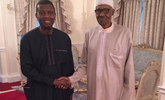 Adeboye visits Buhari in London