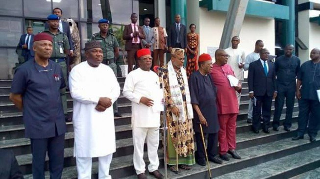 Under pressure from Aso Rock, south-east governors proscribe IPOB