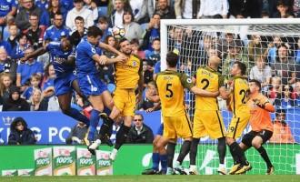 Ndidi splendid as Leicester beat Brighton 2-0