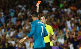 Ronaldo gets five-match ban for pushing referee, red card