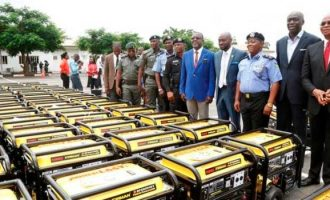 '10 litres of fuel for bail', 'Govt wasting forex' — Twitter reactions to Lagos donation of generators to police