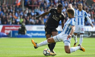 Iheanacho makes first start as Leicester draw 1-1 with Huddersfield