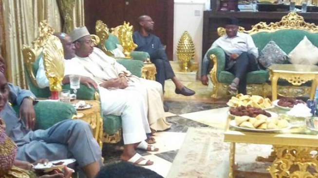 PHOTOS: Former ministers pay Sallah visit to Jonathan