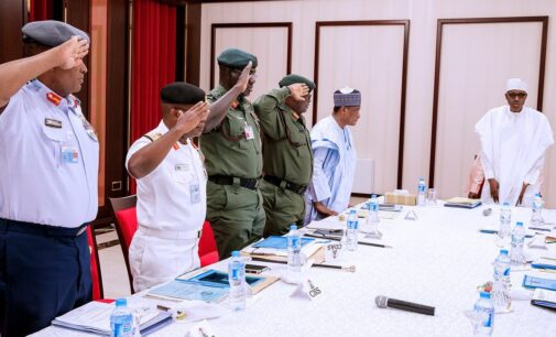 Buhari, service chiefs review security situation ahead of 2019 polls