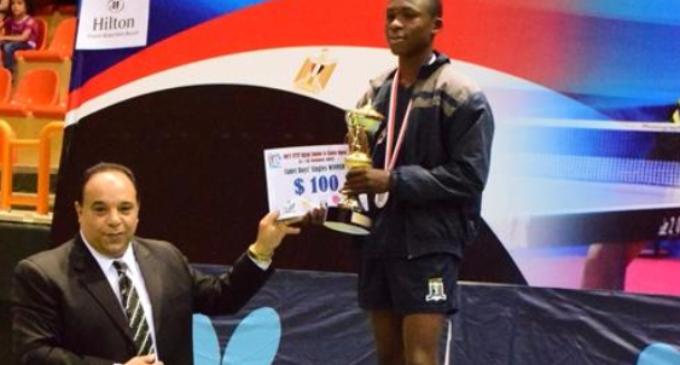 Taiwo Mati, 12-year-old Nigerian, shines at ITTF Egypt Junior Open