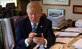 Trump: Sometimes, I tweet from bed