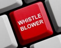 The whistle blown has been ignored
