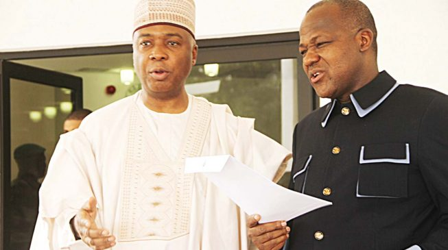 Drama as Saraki, Dogara leave Aso Rock 'in anger'