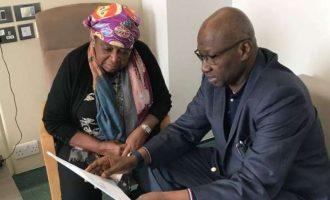 SGF visits Ekwueme in UK hospital