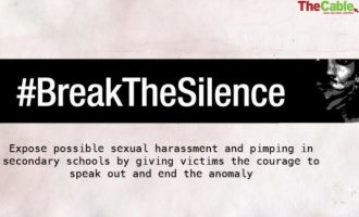 TheCable launches #BreakTheSilence to fight sexual harassment in schools