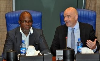 Infantino congratulates Pinnick on re-election as NFF president