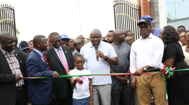 Ambode inaugurates new road to LASUTH, orders completion of maternity house in six months