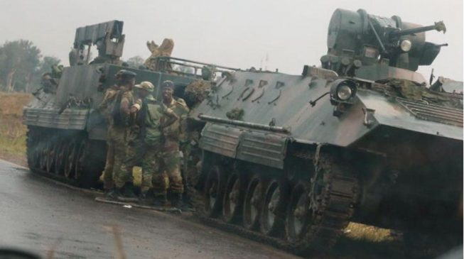 Tension as military seizes power in Zimbabwe