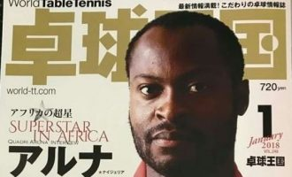 World table tennis magazine calls Quadri 'superstar of Africa'