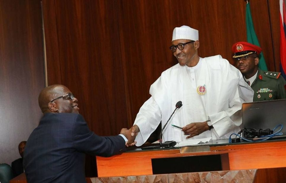 Buhari swears in permanent secretaries