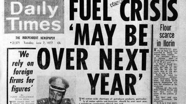 TRENDING: In 1977, NNPC said fuel crisis 'may end next year' — and Buhari was petroleum minister