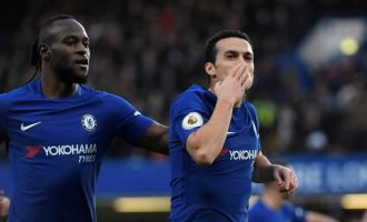 Moses helps Chelsea wallop Stoke 5-0