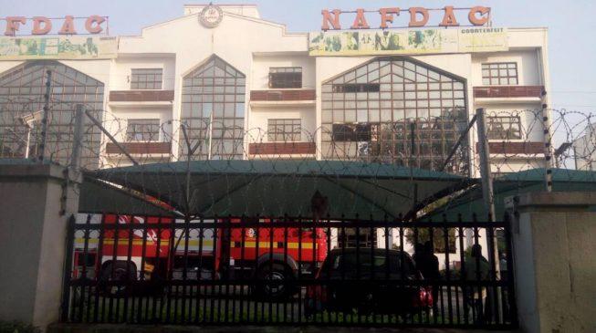 Fire outbreak at NAFDAC headquarters