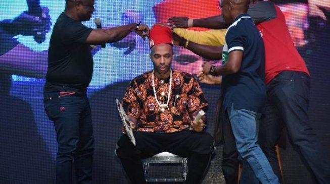 PHOTOS: Thierry Henry visits Lagos, crowned 'Igwe of football'