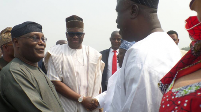 Atiku visits Fayose, says 'I don't want to comment on OBJ's letter'