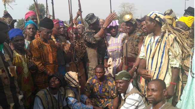 PHOTOS: Fayose summons Ekiti hunters over herdsmen killings