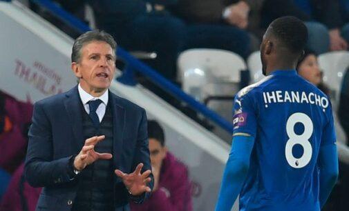 Iheanacho needs to improve, says Leicester coach