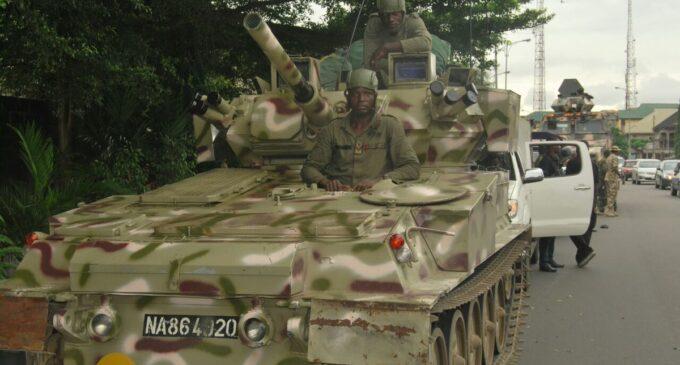 Explosion rocks Damaturu as military armoured tank catches fire