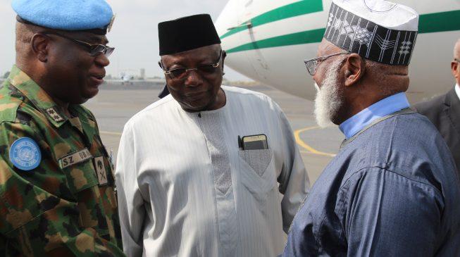 Obasanjo, Abdulsalami in Liberia as Weah takes oath of office