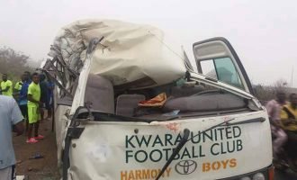 Kwara United players injured in auto crash on Lagos-Ibadan expressway