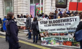 Nigerians in London protest herdsmen killings