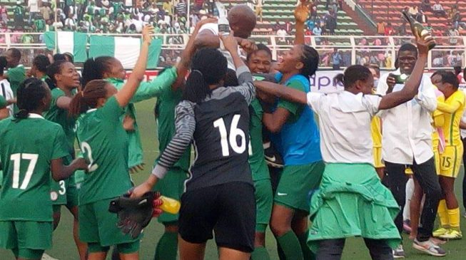PHOTOS: Ecstasy as Falconets seal World Cup place in spectacular style