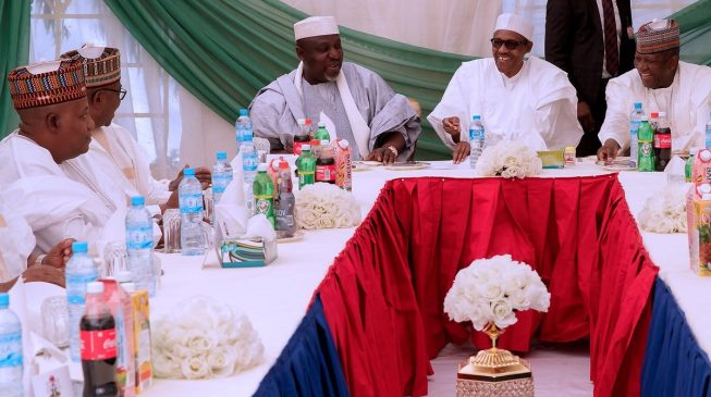 PHOTOS: Okorocha leads APC governors to Daura